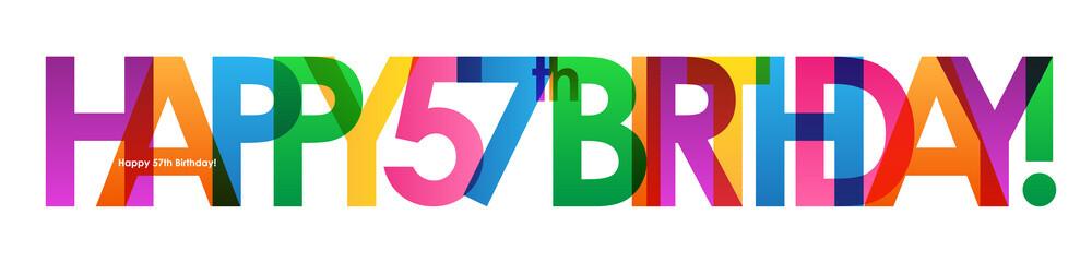 HAPPY 57th BIRTHDAY Vector Card