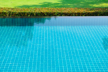 Swimming pool and a garden on the side