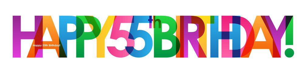 HAPPY 55th BIRTHDAY Vector Card