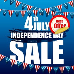 Independence day of sale banner template design