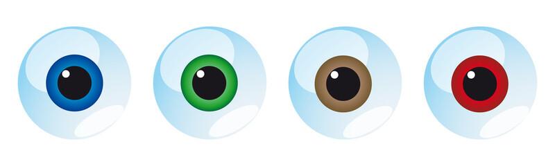 Oeil (4 couleurs)