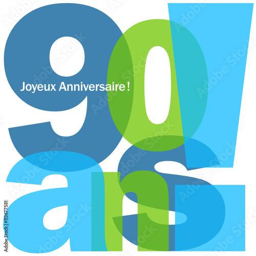 Carte Joyeux Anniversaire 90 Ans Fichier Vectoriel Libre De Droits