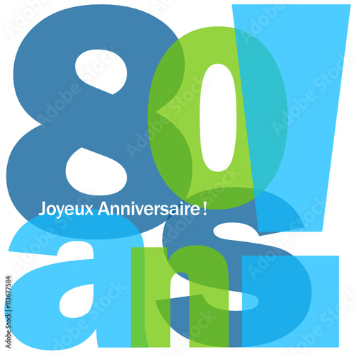 Carte Joyeux Anniversaire 80 Ans Stock Image And Royalty Free