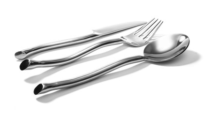 fork knife spoon isolated