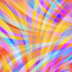 Colorful smooth yellow,orange, pink, blue  lines background