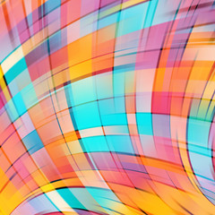 Colorful smooth light pink, blue, yellow orange lines background
