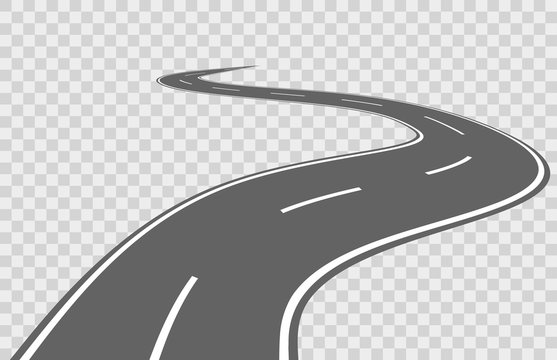 Abstract winding vector road
