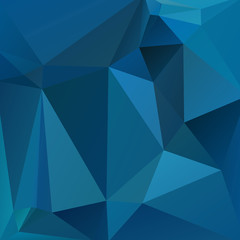 polygonal abstract background consisting of dark blue triangles