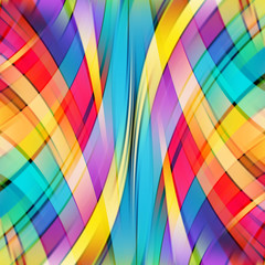 Colorful smooth light lines background. Rainbow colors.