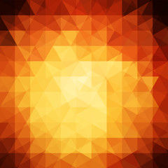 abstract background consisting of orange, yellow, brown triangle