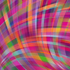 Colorful smooth light lines background. Pink, purple, green, orange colors