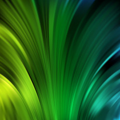 Smooth light lines background. Green, yellow, black colors.