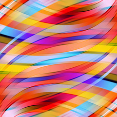 Colorful smooth light lines background. Red, yellow, orange, blu