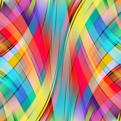 Colorful smooth light lines background. Rainbow-colored.