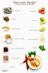 Tom yum recipe, shrimp tom yum, Thai food, Thai tom yum, spice soup, Thai soup,