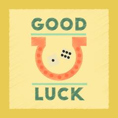 flat shading style icon good luck logo