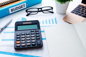 Financial and budget planning concept