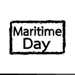 Maritime Day text Illustration design