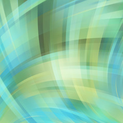 Colorful smooth light green, blue lines background.