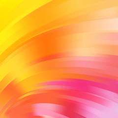 Colorful smooth light yellow, orange, pink lines background.