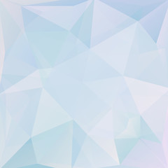 abstract background consisting of light blue triangles, vector