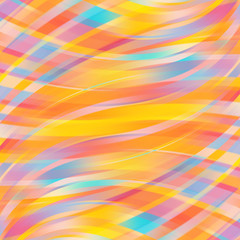 Colorful smooth light lines background.Yellow, orange, blue colors