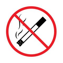 No smoking sign. Vector simple illustration