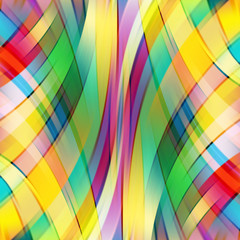 Colorful smooth light lines background. Green, red, yellow colors