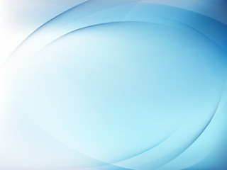 Abstract blue background with smooth lines. EPS 10