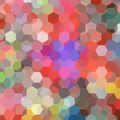 abstract background consisting of colorful hexagons