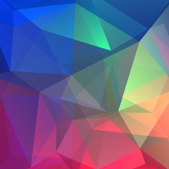abstract background consisting of blue, green, pink, purple triangles