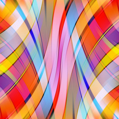 Colorful smooth light lines background. Red, pink, blue, yellow color