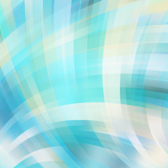 Colorful smooth light lines background. Blue, white colors.
