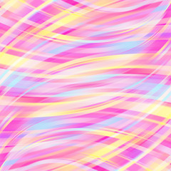 Colorful smooth light lines background. Pink, white, yellow, blue colors