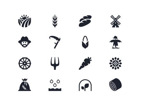 Farm icons. Lyra series