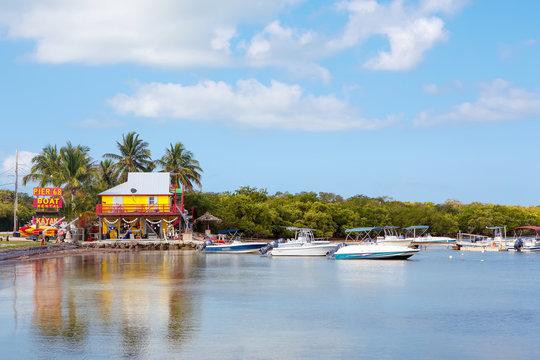 Houses Waterside at Key Largo Florida USA