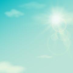 Summer sky, vintage, vector