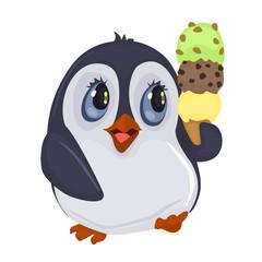 Penguin and Ice Cream Cone