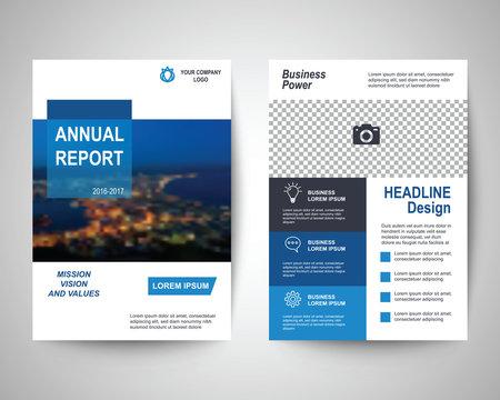 blue flyer a4 template