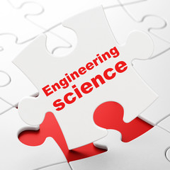 Science concept: Engineering Science on puzzle background