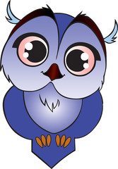 Blue Cartoon owlet