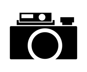retro camera isolated icon design