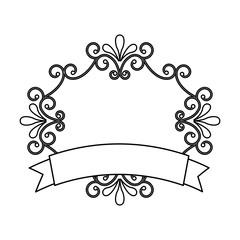 elegant badge isolated icon design