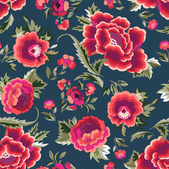 Manton shawl - Spanish Floral Print - seamless background