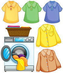 Washing machine and cleaned clothes