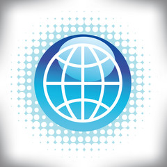 An abstract globe background