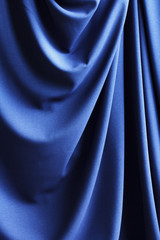 blue cloth drapery, abstract background