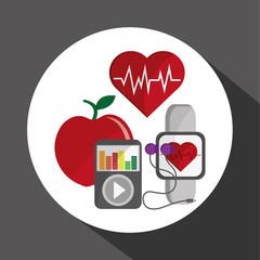 Healthy lifestyle design. bodycare icon. flat illustration, vect