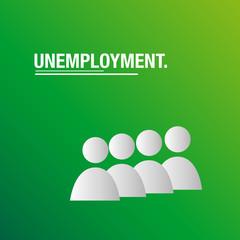 Unemployment business background