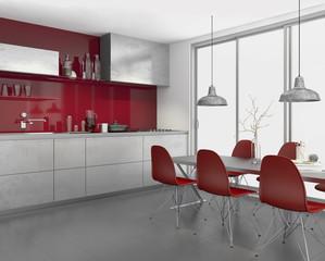 Einbauküche Wohnküche Küche Küchenzeile Systemküche